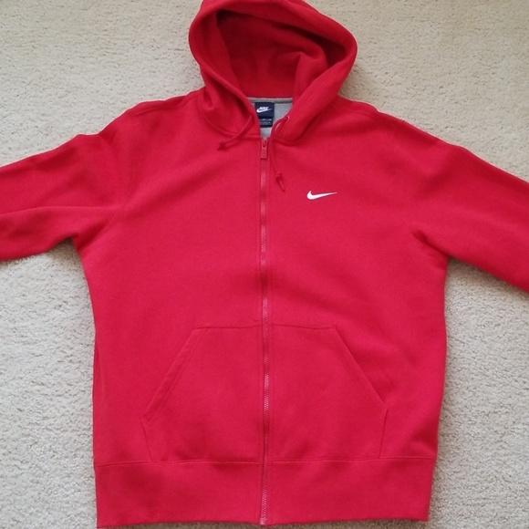 nike swoosh zip up hoodie